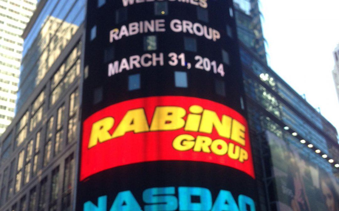 Chicago Innovation Award Winner Rabine Group Rings NASDAQ Closing Bell